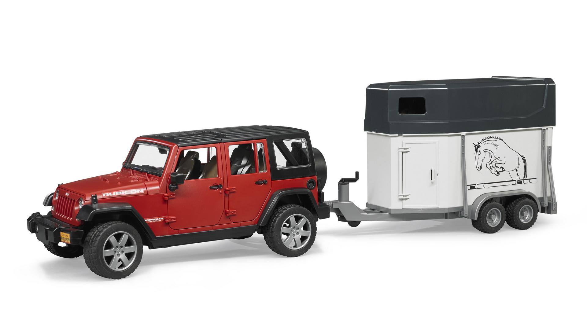 Lohval: BRUDER Jeep Wrangler Unlimited Rubicon Lószállító