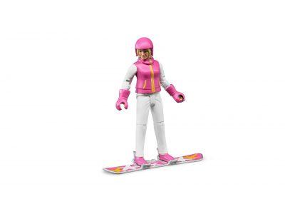 Bruder Snowboardozó nő