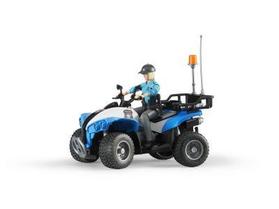 Bruder Rendőrségi quad figurával