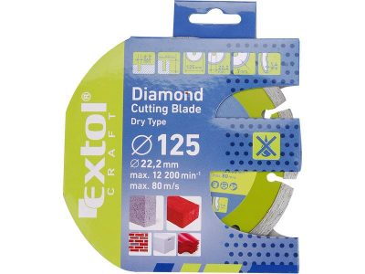 EXTOL Gyémántvágó korong TURBO, száraz és vizes vágásra