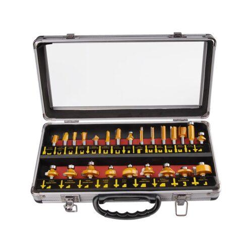 Extol Felsőmaró készlet 24 db-os, alu kofferben