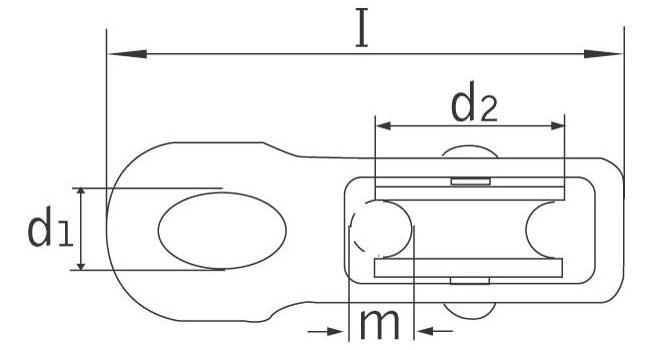 Kötélvezető csiga műanyag görgős - méretek